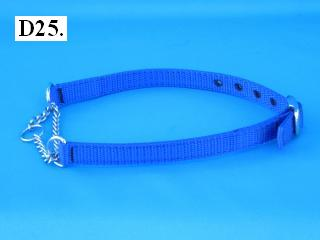 "5/8"" wide chain martingale collar"