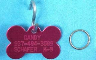 bone shape pet id tags