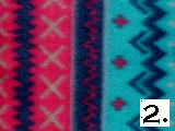 Turquoise Red & Navy Navajo