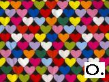 Multicolored Hearts on Black