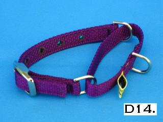 "1/2"" wide nylon martingale collar"