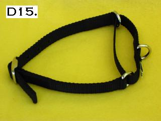"5/8"" wide nylon martingale collar"