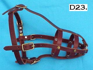 old style leather dog muzzle