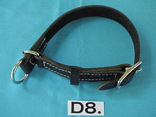 adjustable leather choke collar