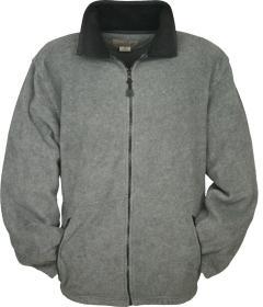 Fleece Zippered Jacket With Embroidery