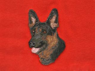 Dark German Shepherd Head
