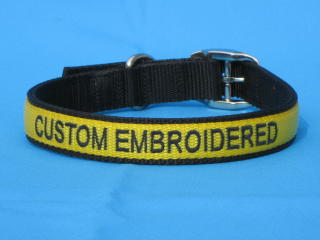 dog collars, embroidered dog collar ...