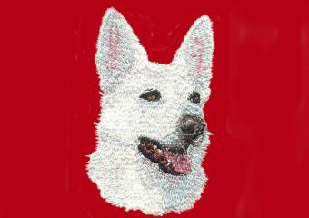 White German Shepherd Head