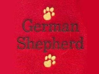 German Shepherd Text & Paw Prints