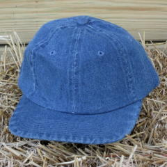 Denim Baseball Hat With Embroidery