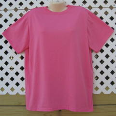 Hot Pink Tshirt With Embroidery