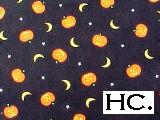 Jack o Lanterns + Moons on Black