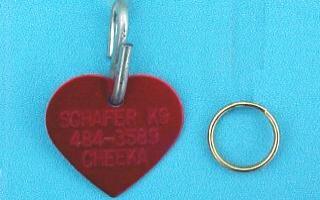 heart shape pet id tags
