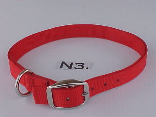 "1"" wide nylon dog collar"