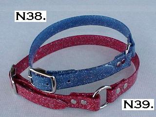 Gliter Red + Blue BiPlastic Collars