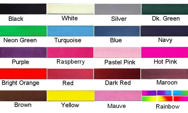 20 Beautiful Colors Of Nylon Strap