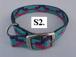 "1"" wide printed nylon dog collar"