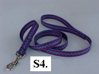 4' printed nylon leashes