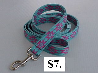 6' pinted nylon leashes