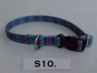 "5/8"" wide printed adjustable dog collar"