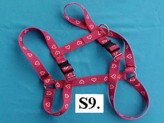 "1"" wide printed nylon harness"
