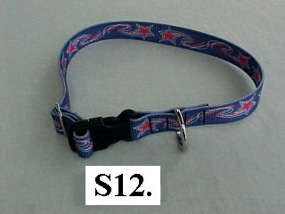 "1"" Wide  wide printed adjustable dog collar"