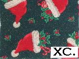 Santa Hats on Green