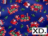 Santa Train On Blue