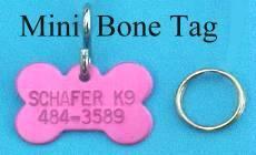 x-small bone shape pet id tags